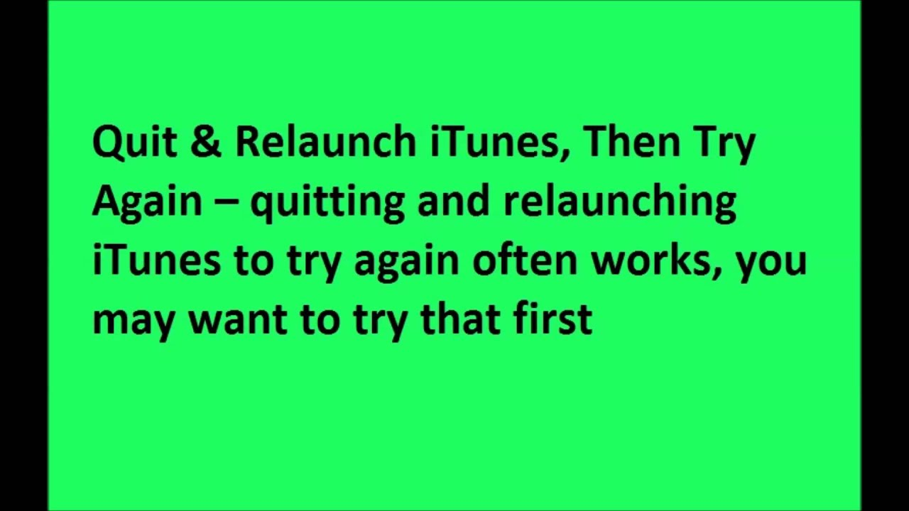 """Resolving an iTunes """"iPhone Software Update Server Could Not Be Contacted""""  By Invision"""