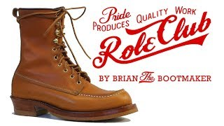 red wing moc toe boots resole 31
