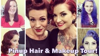 South/East Coast Pinup Hair and Makeup Tour Part 1 with CHERRY DOLLFACE Thumbnail