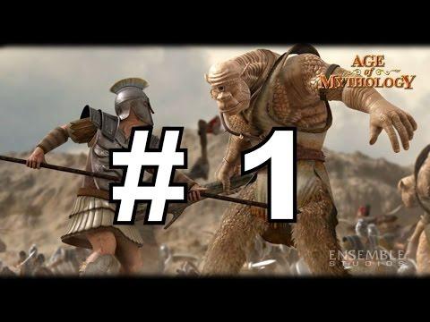 Age of Mythology по сети с Ольгой - часть 1 Мегалополис