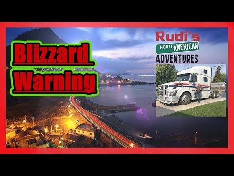 Blizzard Warning Rudi's NORTH AMERICAN ADVENTURES 12/04/17 Vlog#1272