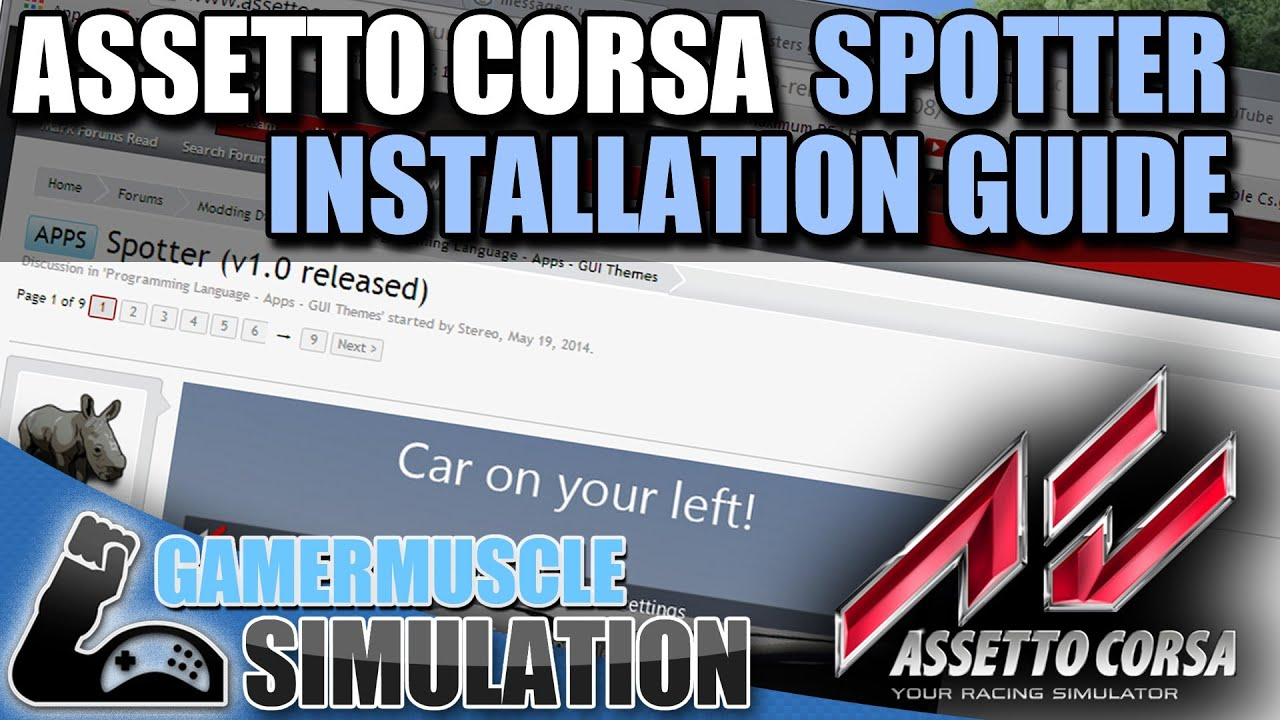 Assetto Corsa spotter app installation guide - GamerMuscle