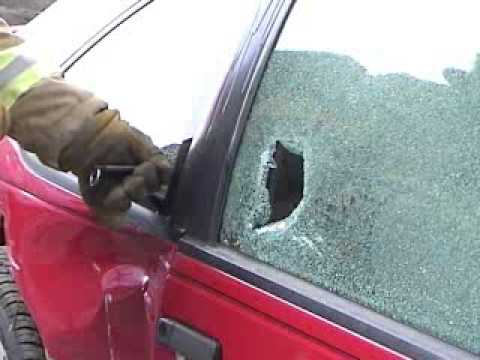 How To Break A Car Window >> Spring Window Punch - The Right Way to Break Glass - YouTube