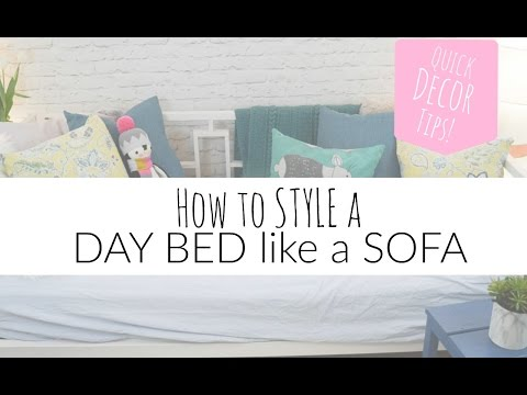 How to Style a Daybed like a Sofa