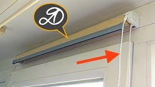 Нестандартный монтаж рулонных штор. Как установить рулонные шторы своими руками