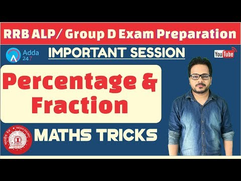 RRB ALP/ Group D | Percentage and Fraction | Maths Tricks | Online Coaching For RAILWAY