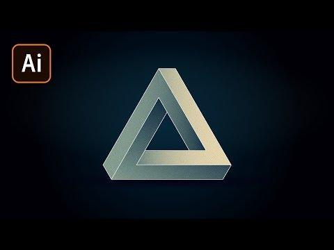 Невозможный треугольник в Adobe Illustrator/Penrose Triangle