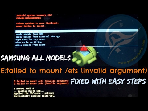 How to fix Samsung E failed to mount /efs Invalid argument