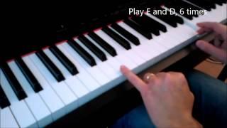Interstellar OST - Hans Zimmer - Piano tutorial - First Step from Reynah version - Tutorial 1