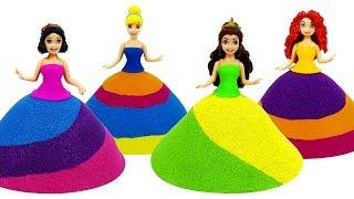 Вироби як зробити кінетичний пісок сукні для принцеси Діснея MagiClip ляльки