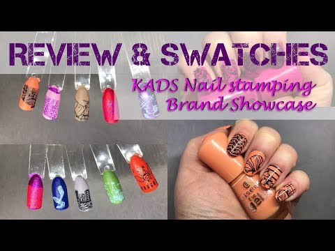 KADS Stamping Plates Brand Showcase Swatches and Review