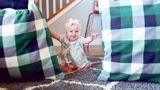 Baby Girl Crawling 🎉HUGE REVEAL!🎉