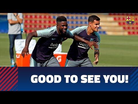 Six Barça internationals return to training thumbnail