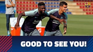 Six Barça internationals return to training