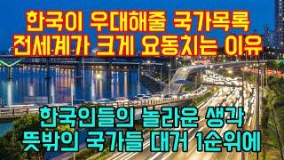 """한국이 우대해주는 국가목록이 공개되자 전세계가 크게 요동치는 이유 """"한국인들의 놀라운 생각, 뜻밖의 국가들 대거 1순위에"""""""