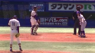 <ドラフト2014  オリックス1位指名>山﨑福也(明大)投手:東京六大学春季リーグ東大1回戦3回裏の投球