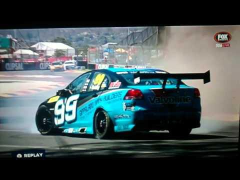V8 Supercars 2015 crash super slow motion
