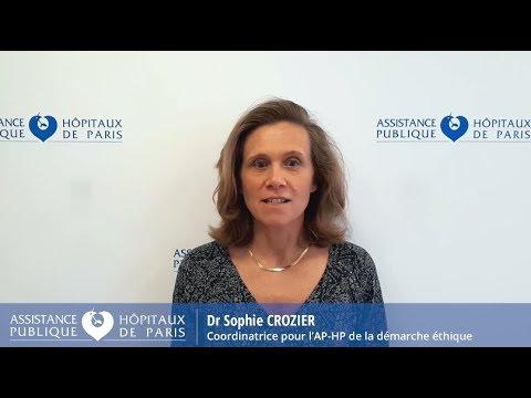 Semaine de l'éthique 2018 - Dr Sophie Crozier, coordinatrice pour l'AP-HP de la démarche éthique