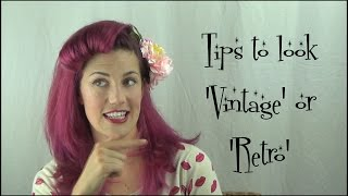 HOW to look VINTAGE or RETRO - hair & makeup for beginners