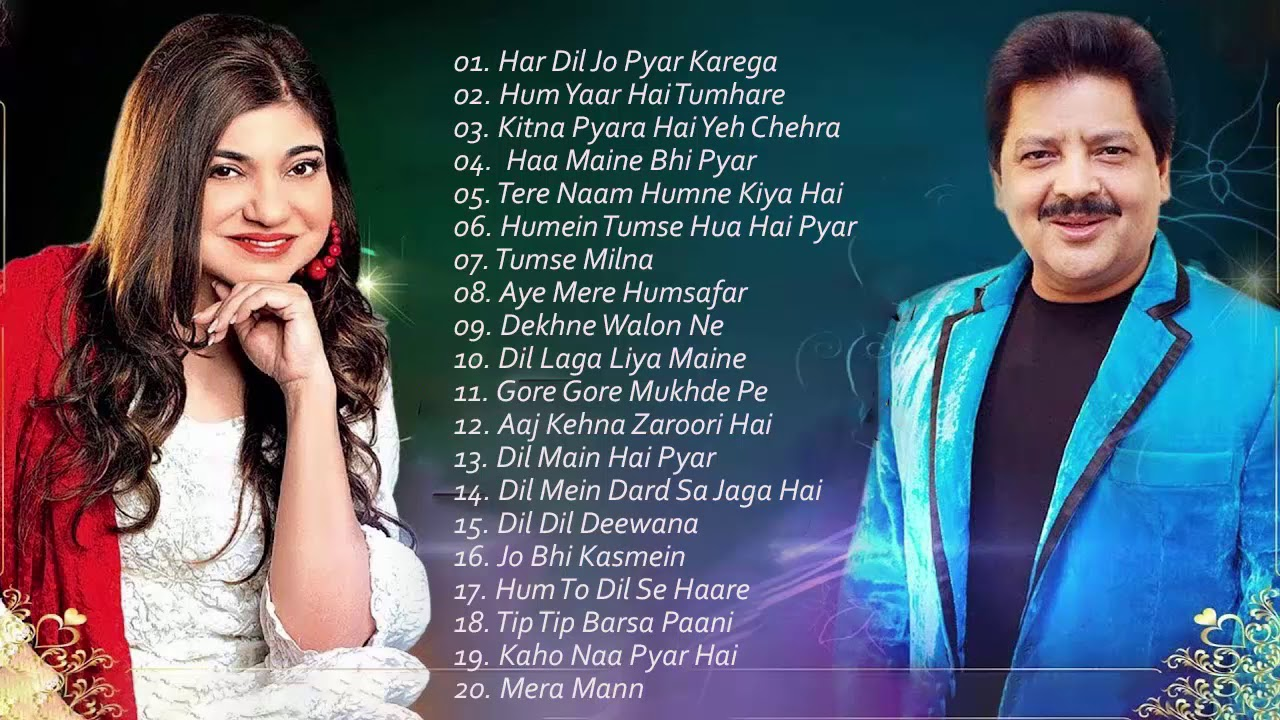 BEST Songs Udit Narayan & Alka Yagnik / Evergreen romantic songs / Awesome  Duets - SUPERHIT JUKEBOX