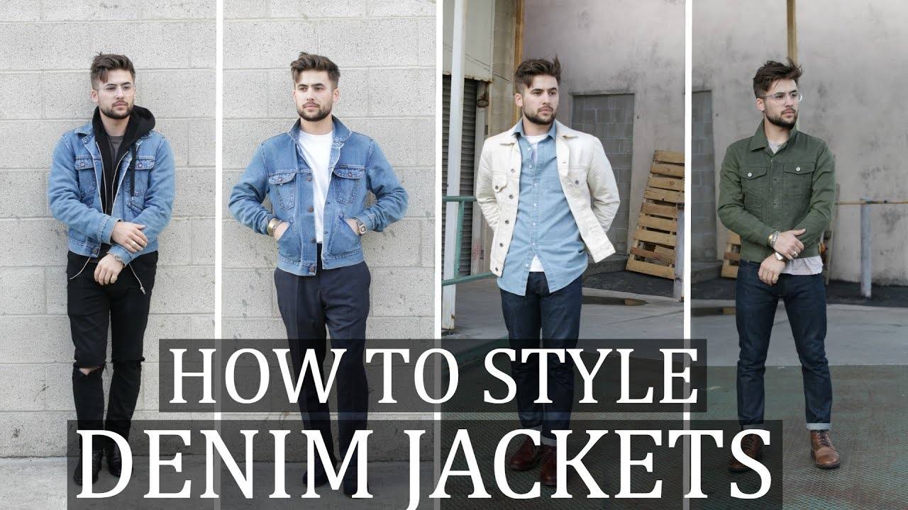 How To Style The Denim Jacket Mens Fashion Outfit Ideas Youtube