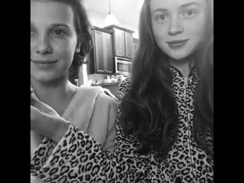 AMAZING Millie Bobby Brown & Sadie Sink Singing