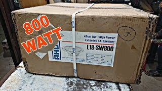 AHUJA L18-SW800 PROFESSIONAL PA SPEAKERS UNBOXING & REVIEW