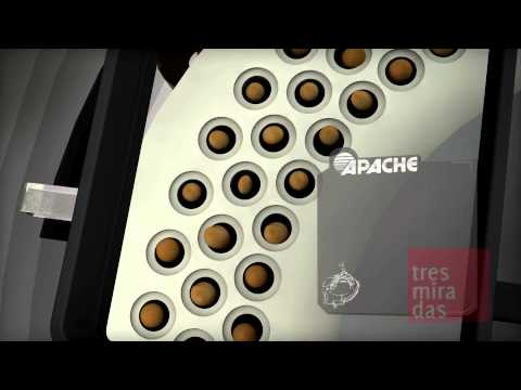 Presentación sembradora Apache 54000 y dosificador. Realizada por tresmiradas media