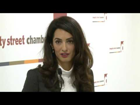Nasheed Press Conference - Amal Clooney - 5 Oct 2015