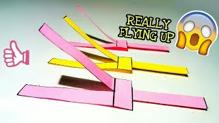 how To Make A Real Flying Paper Helicopter || That Fly Up !!!