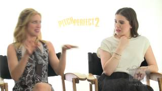 Brittany Snow and Hailee Steinfield talk twerking for Pitch Perfect 2
