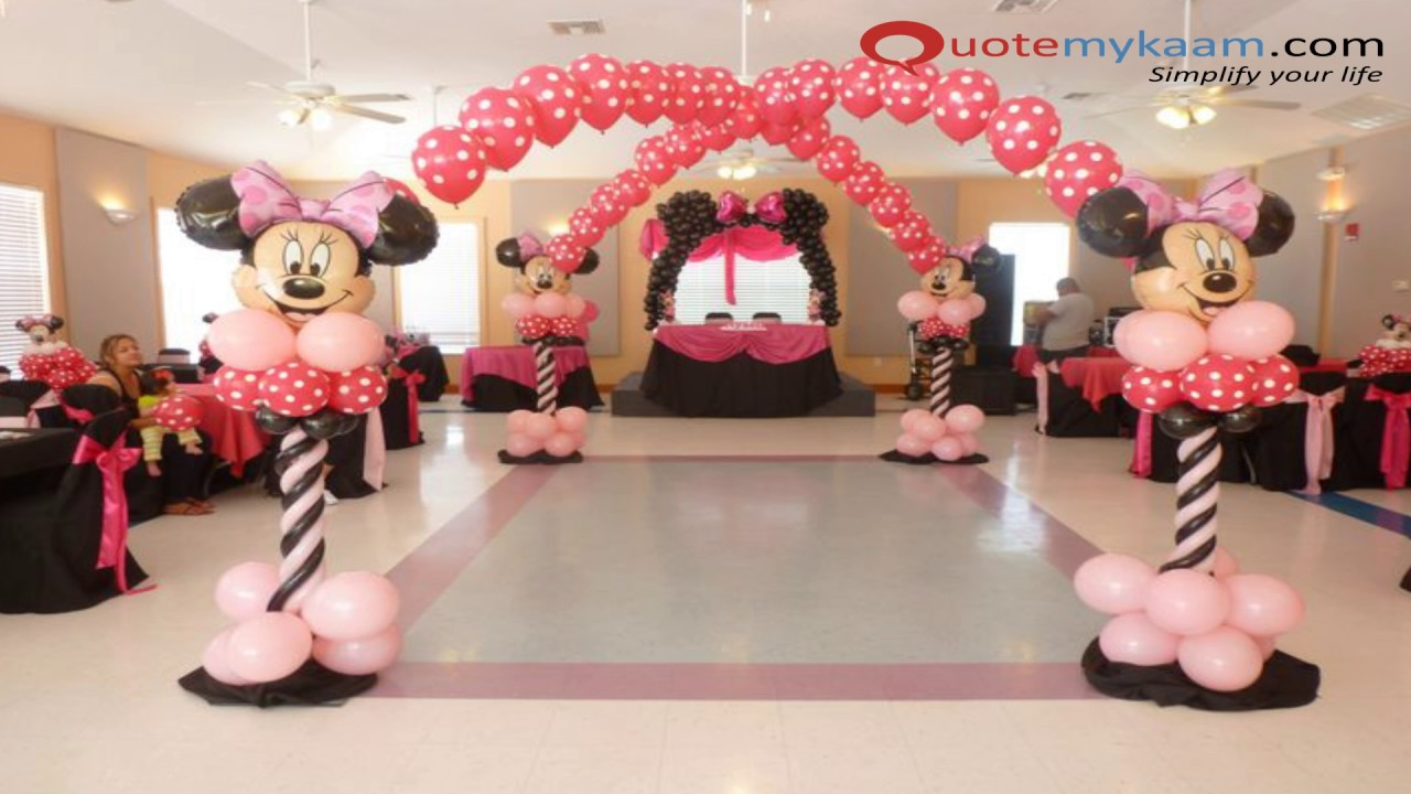 Minnie Mouse Theme Decoration Ideas   YouTube