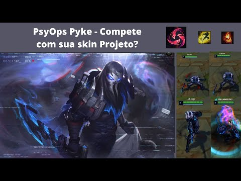 PsyOps Pyke – Compete com sua skin Projeto dele? – Epica - LoL PBE Normal GamePlay