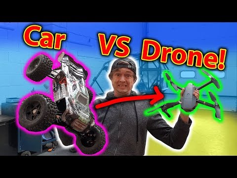 Jumping RC Cars at a Drone