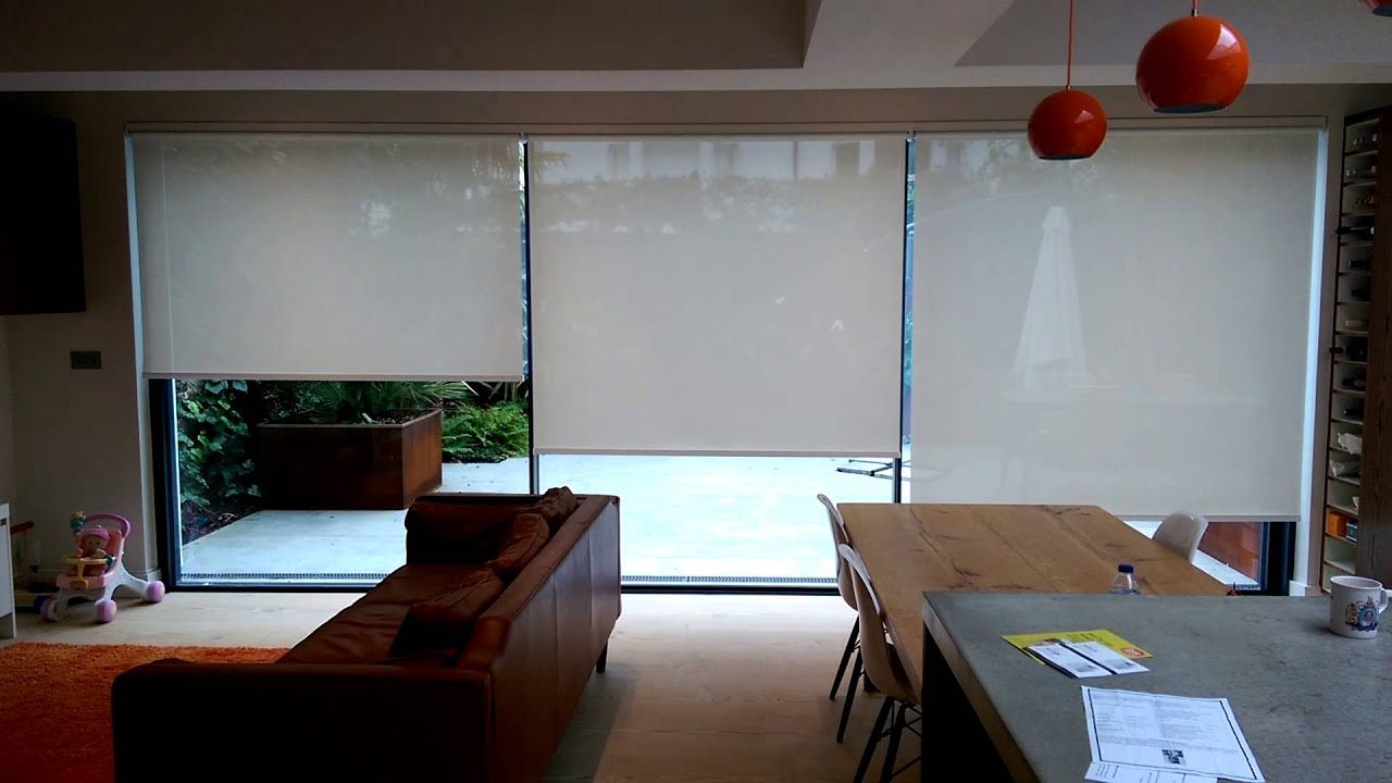 Motorised cassetted roller blinds with somfy motors and for How to install motorized blinds