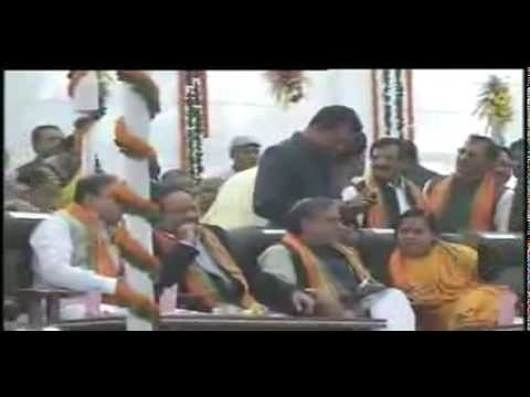Dr. Raman Singh takes oath as Chief Minister of Chhattisgarh for the third consecutive term.