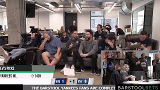 Stream Recap: Barstool Sports Yankees Fans Forced to Watch ALCS Game In Worst Way Possible