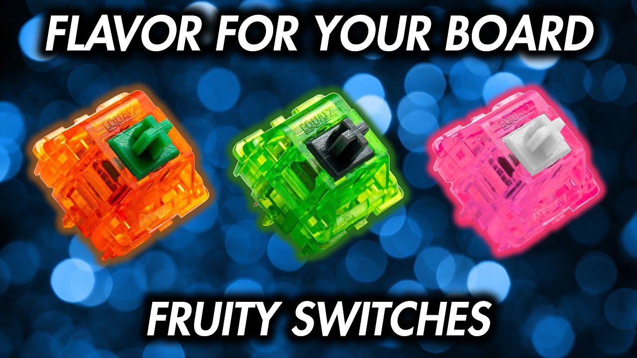 Are C3 x TKC Fruity Switches Any Good? - Kiwi, Tangerine, Dragon Fruit Sound Tests!