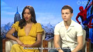 Spider Man Homecoming (2017) Entrevista con Tom Holland y Laura Harrier