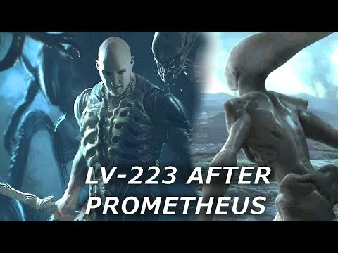 Prometheus the meaning of the mural on lv223 following for Prometheus xenomorph mural