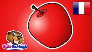 """The Apple is Red"" (FRENCH) Teach Colors, Learn Colours, Baby Toddler Preshcool Kids Songs"