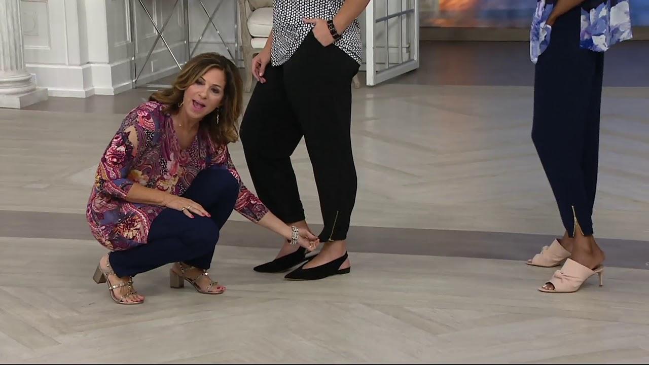 Susan Graver Liquid Knit Jogger Pants W Zipper Detail On Qvc Youtube