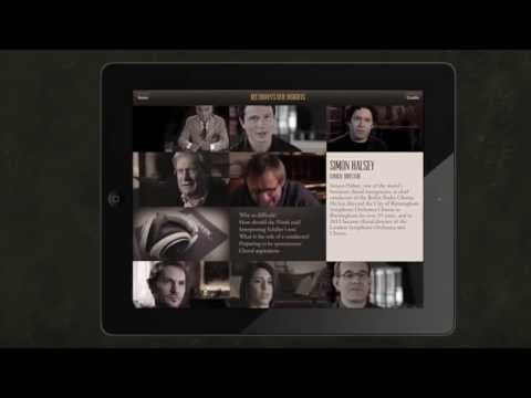 Beethoven's 9th Symphony, a walk-through of the full iPad experience