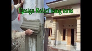 Cara relief tiang teras rumah  minimalis