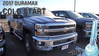 2017 duramax silverado cold start 10 f