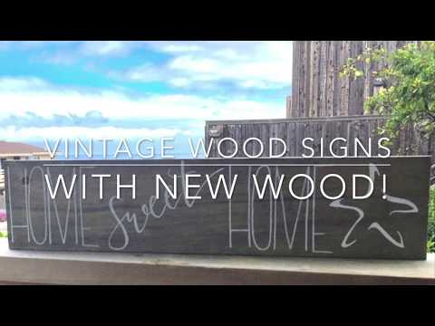DIY Vintage Wood Signs from New Wood
