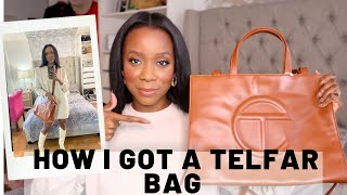 Telfar bag unboxing | medium shopping review