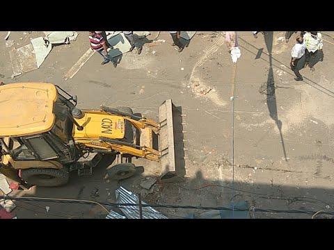 Unauthorized Construction Demolition :: Laxmi Nagar