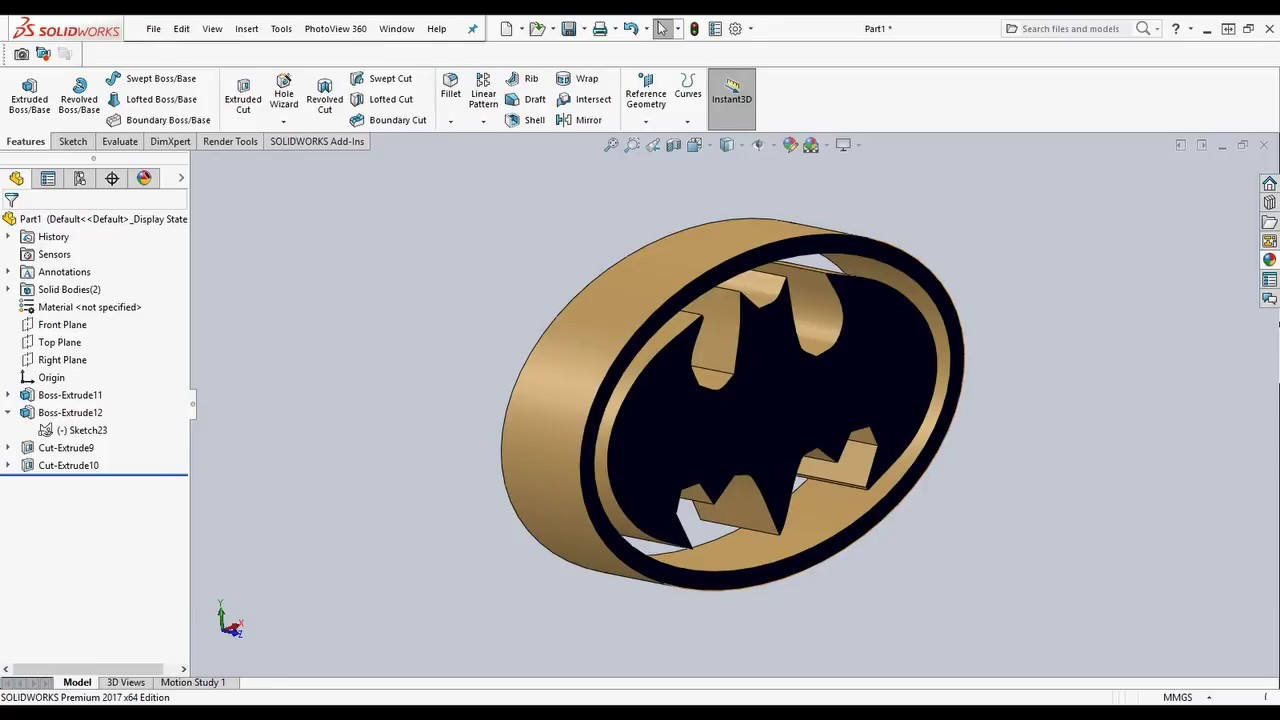 auto trace ,how to make logo (easy fast solidworks )