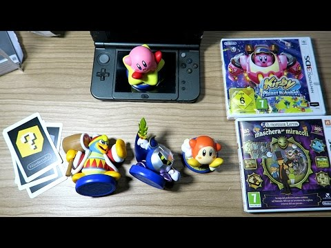 [EL] KIRBY PLANET ROBOBOT + AMIIBO Collezione Completa & New Nintendo 3DS XL (Unboxing)